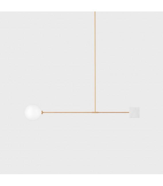 Светильник потолочный Wishnya Suprematic Libra Quad, латунь и белый мрамор — Купить по низкой цене в интернет-магазине
