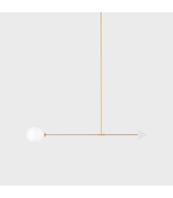 Светильник потолочный Wishnya Suprematic Libra Trig, латунь и белый мрамор — Купить по низкой цене в интернет-магазине