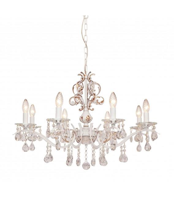 Подвесная люстра Silver Light Tereziya 727.51.8, белая патина — Купить по низкой цене в интернет-магазине