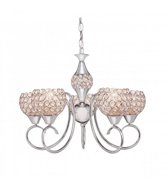 Подвесная люстра Silver Light Malika 126.54.5, хром/хрусталь — Купить по низкой цене в интернет-магазине