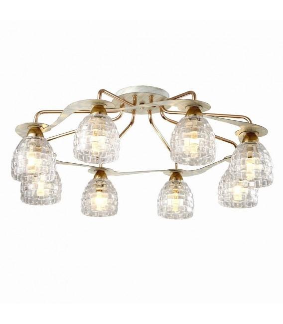 Потолочная люстра Silver Light Demetra 705.51.8, белая патина/золото — Купить по низкой цене в интернет-магазине