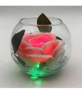 """Ночник """"Светодиодные цветы"""" LED Secret, розовая роза с зелёной подсветкой — Купить по низкой цене в интернет-магазине"""