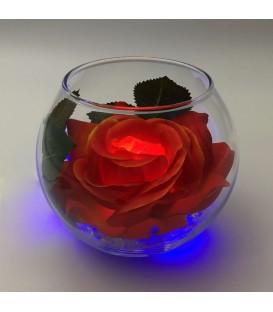 """Ночник """"Светодиодные цветы"""" LED Secret, красная роза с синей подсветкой — Купить по низкой цене в интернет-магазине"""