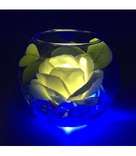 """Ночник """"Светодиодные цветы"""" LED Secret, жёлтая роза с синей подсветкой — Купить по низкой цене в интернет-магазине"""