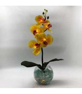 """Ночник """"Светодиодные цветы"""" LED Provocation, 5 жёлтых орхидей с жёлтой подсветкой"""