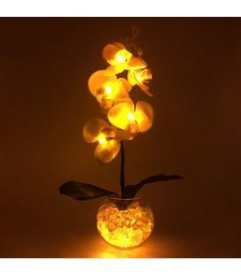 """Ночник """"Светодиодные цветы"""" LED Provocation, 5 жёлтых орхидей с жёлтой подсветкой — Купить по низкой цене в интернет-магазине"""