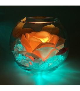 """Ночник """"Светодиодные цветы"""" LED Secret, жёлтая роза с зелёной подсветкой — Купить по низкой цене в интернет-магазине"""