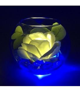 """Ночник """"Светодиодные цветы"""" LED Secret, белая роза с синей подсветкой — Купить по низкой цене в интернет-магазине"""
