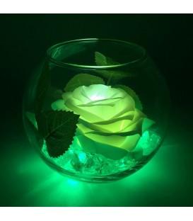 """Ночник """"Светодиодные цветы"""" LED Secret, белая роза с зелёной подсветкой — Купить по низкой цене в интернет-магазине"""
