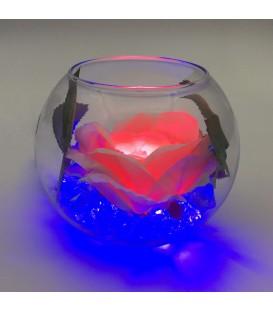 """Ночник """"Светодиодные цветы"""" LED Secret, розовая роза с синей подсветкой — Купить по низкой цене в интернет-магазине"""
