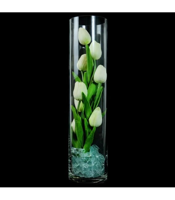 """Ночник """"Светодиодные цветы"""" LED Spirit, 9 белых тюльпанов с синей подсветкой — Купить по низкой цене в интернет-магазине"""