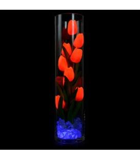 """Ночник """"Светодиодные цветы"""" LED Spirit, 9 оранжевых тюльпанов с синей подсветкой"""