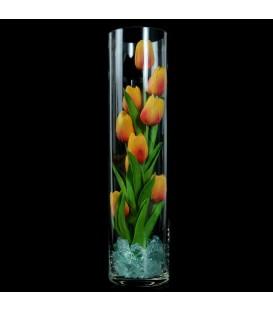 """Ночник """"Светодиодные цветы"""" LED Spirit, 9 оранжевых тюльпанов с синей подсветкой — Купить по низкой цене в интернет-магазине"""