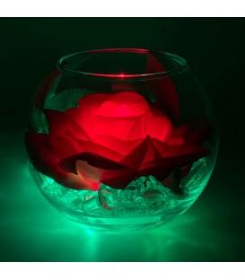 """Ночник """"Светодиодные цветы"""" LED Secret, красная роза с зелёной подсветкой — Купить по низкой цене в интернет-магазине"""