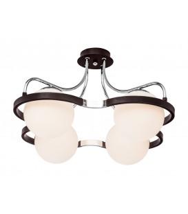 Потолочная люстра Silver Light 209.59.4, венге/хром — Купить по низкой цене в интернет-магазине