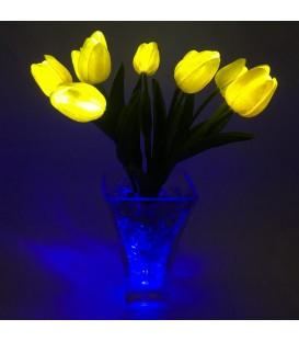 """Ночник """"Светодиодные цветы"""" LED Joy, 9 жёлтых тюльпанов с синей подсветкой"""