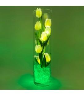 """Ночник """"Светодиодные цветы"""" LED Spirit, 9 белых тюльпанов с зелёной подсветкой — Купить по низкой цене в интернет-магазине"""