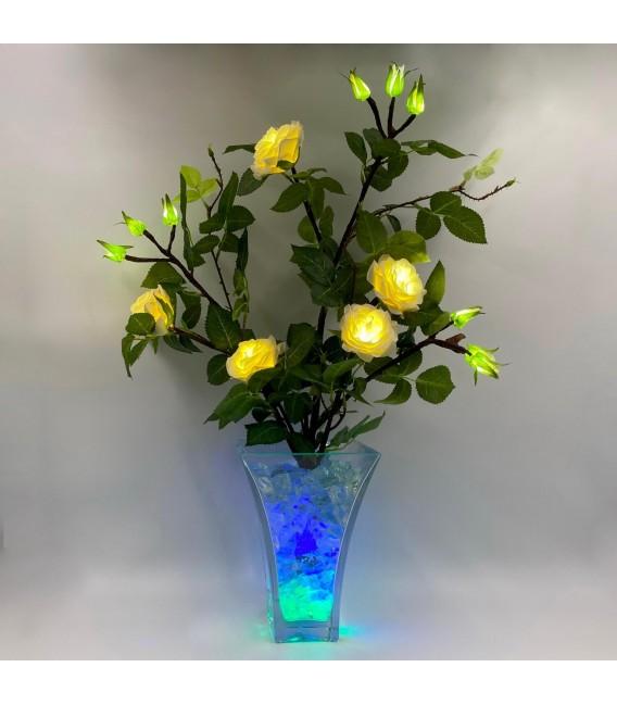 """Ночник """"Светодиодные цветы"""" LED Dream, белые розы с сине-зелёной подсветкой — Купить по низкой цене в интернет-магазине"""