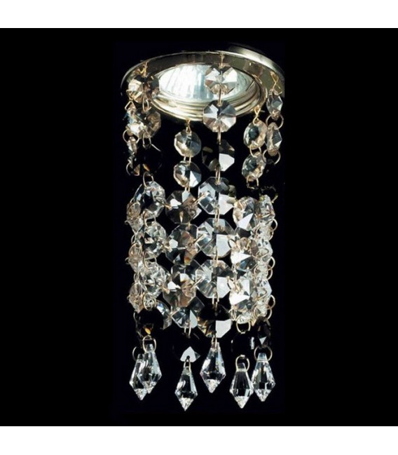 Точечный светильник Totci 605-1012-Br, цвет бронза, с хрусталём Asfour — Купить по низкой цене в интернет-магазине
