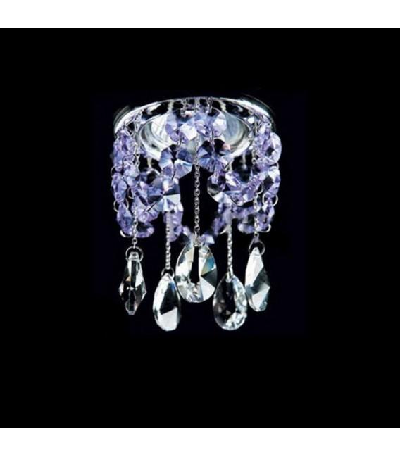 Точечный светильник Totci 629-40-Cr, цвет хром, с хрусталём Asfour — Купить по низкой цене в интернет-магазине