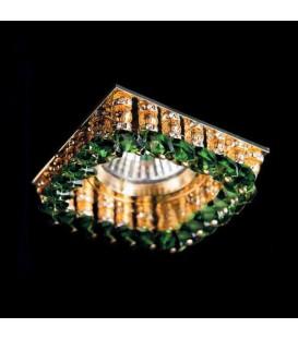 Точечный светильник Totci 643-61-G, цвет золото, с хрусталём Asfour — Купить по низкой цене в интернет-магазине