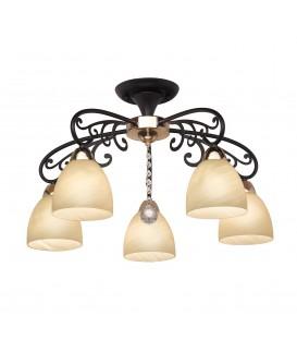 Потолочная люстра Silver Light Janette 261.59.5, венге/золото