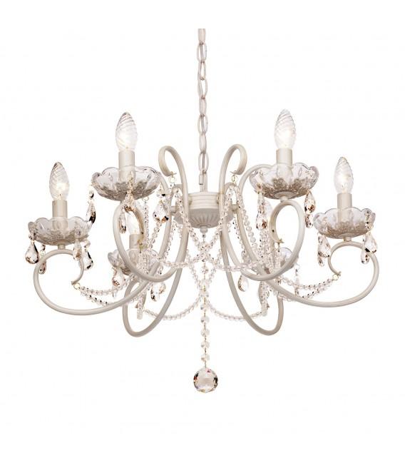 Подвесная люстра Silver Light Laurita 260.51.6, белая патина — Купить по низкой цене в интернет-магазине