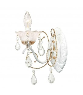 Настенный светильник (бра) Silver Light Hany 732.41.1, белый/золото — Купить по низкой цене в интернет-магазине